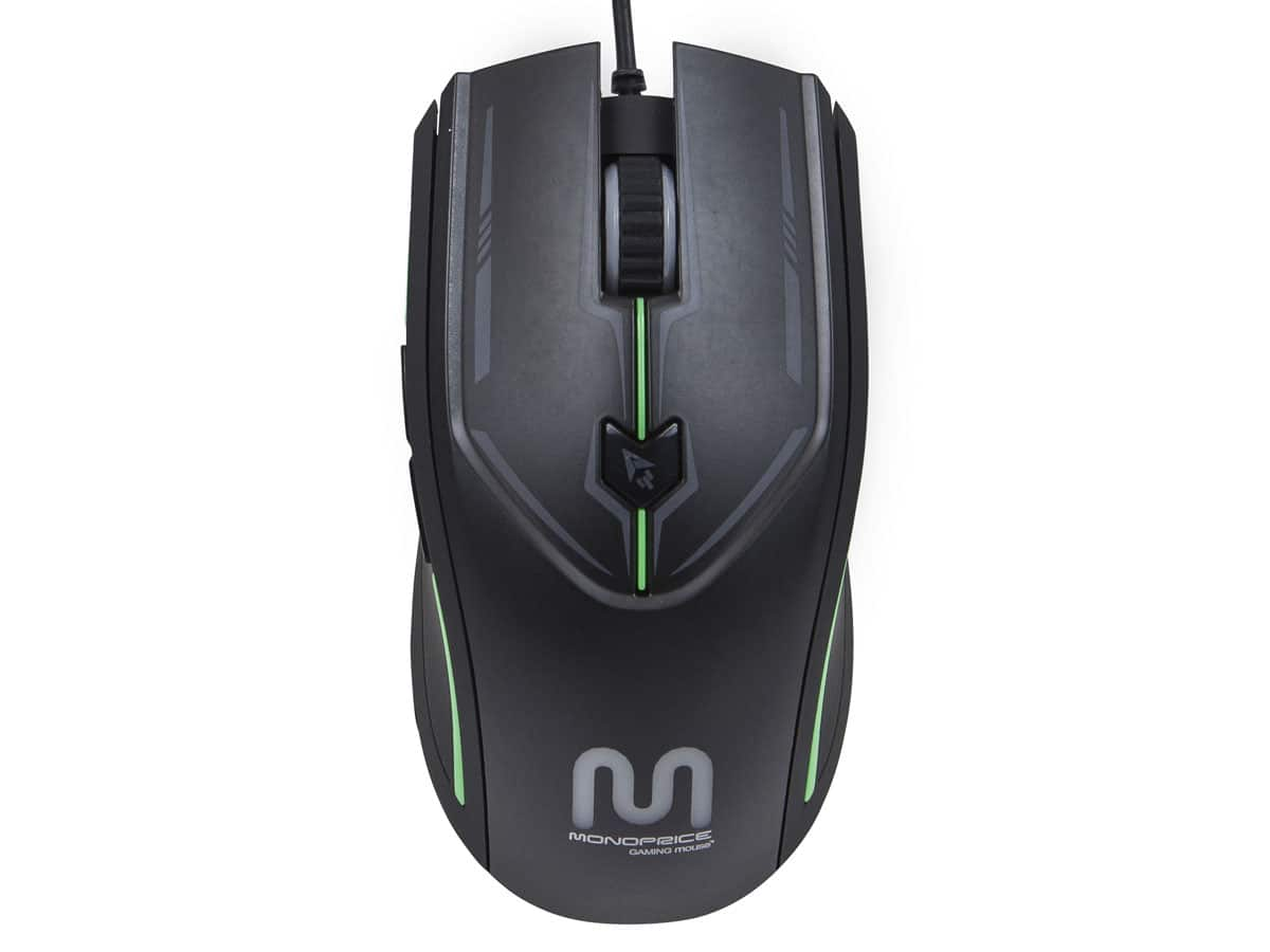 Monoprice Gaming Mouse 6-Button w/ Adjustable DPI Sensor + Green LEDs (Black) $6.79 + Free Shipping