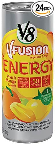 V8 Fusion Energy Drink, Pomegranate Blueberry, 8-Ounce (Pack of 24) $8.75 @amazon.com
