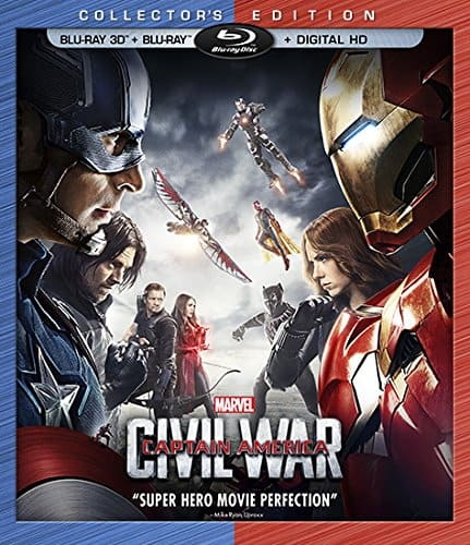 Marvel's Captain America: Civil War (3D BD+BD+Digital HD $19.99 Amazon