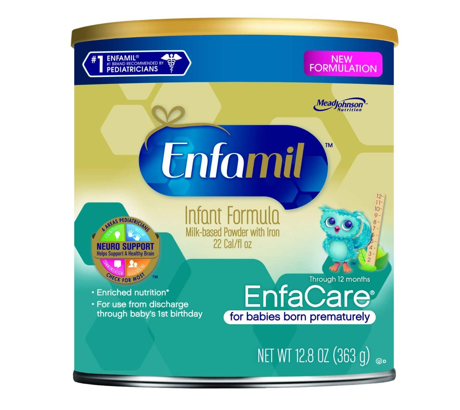 Enfamil EnfaCare Baby Formula - 12.8 oz Powder Can (Pack of 6) (Packaging May Vary) $15.29