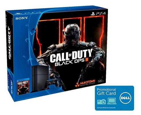 Sony PlayStation 4 500GB Black Ops III Console Bundle + $100 Dell eGift Card / $349.99 + FS