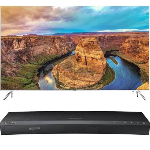 "65"" Samsung KS8000 4K SUHD Smart LED HDTV + UBD-K8500 4K Blu-ray Player  $1996 & More + Free S&H"