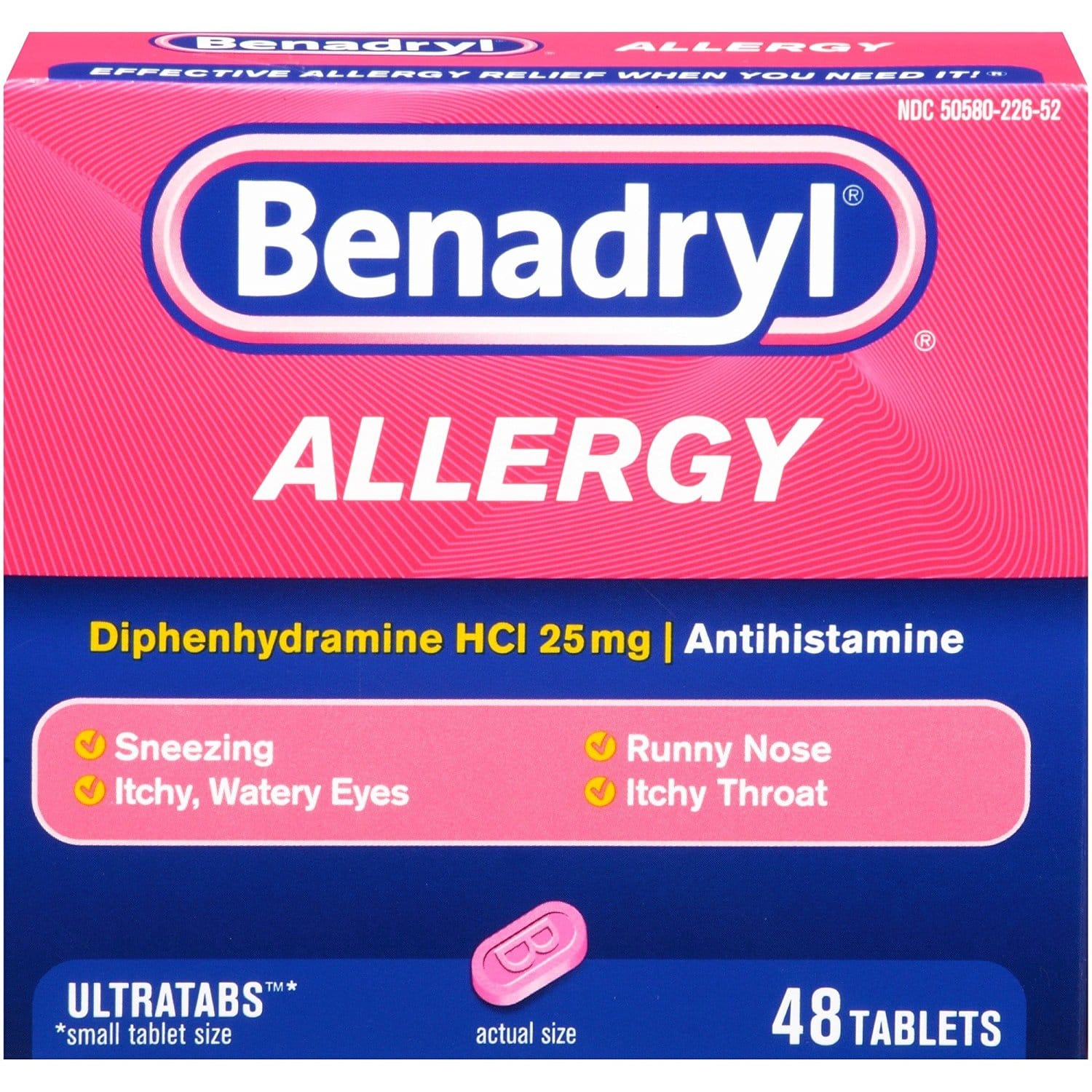 48-ct Benadryl Allergy Ultratab Tablets: $3.50 (or $3.13) + FS @ Amazon S&S