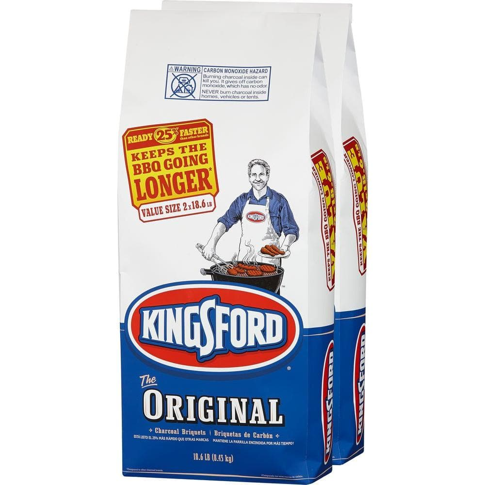 2-Pack of 18.6 lbs Kingsford Charcoal Briquettes  $10 + Free In-Store Pickup