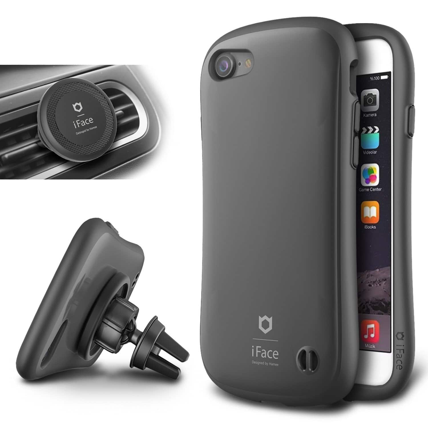 iFace iPhone 7/7 Plus Hard Case w/ Magnetic Air Vent Mount  $1