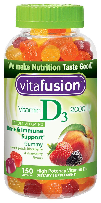 Vitafusion Gummy Vitamins: 250-Ct B12 $5.70, 150-Ct D3 Vitamin  $4 & More + Free S/H