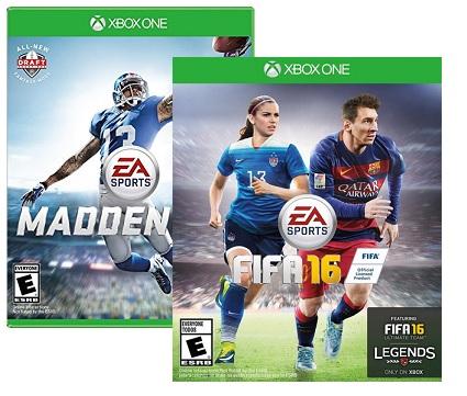 Madden NFL 16 or FIFA 16 (Xbox One) $9.99 ($7.99 w/ GCU) + Free Store Pickup