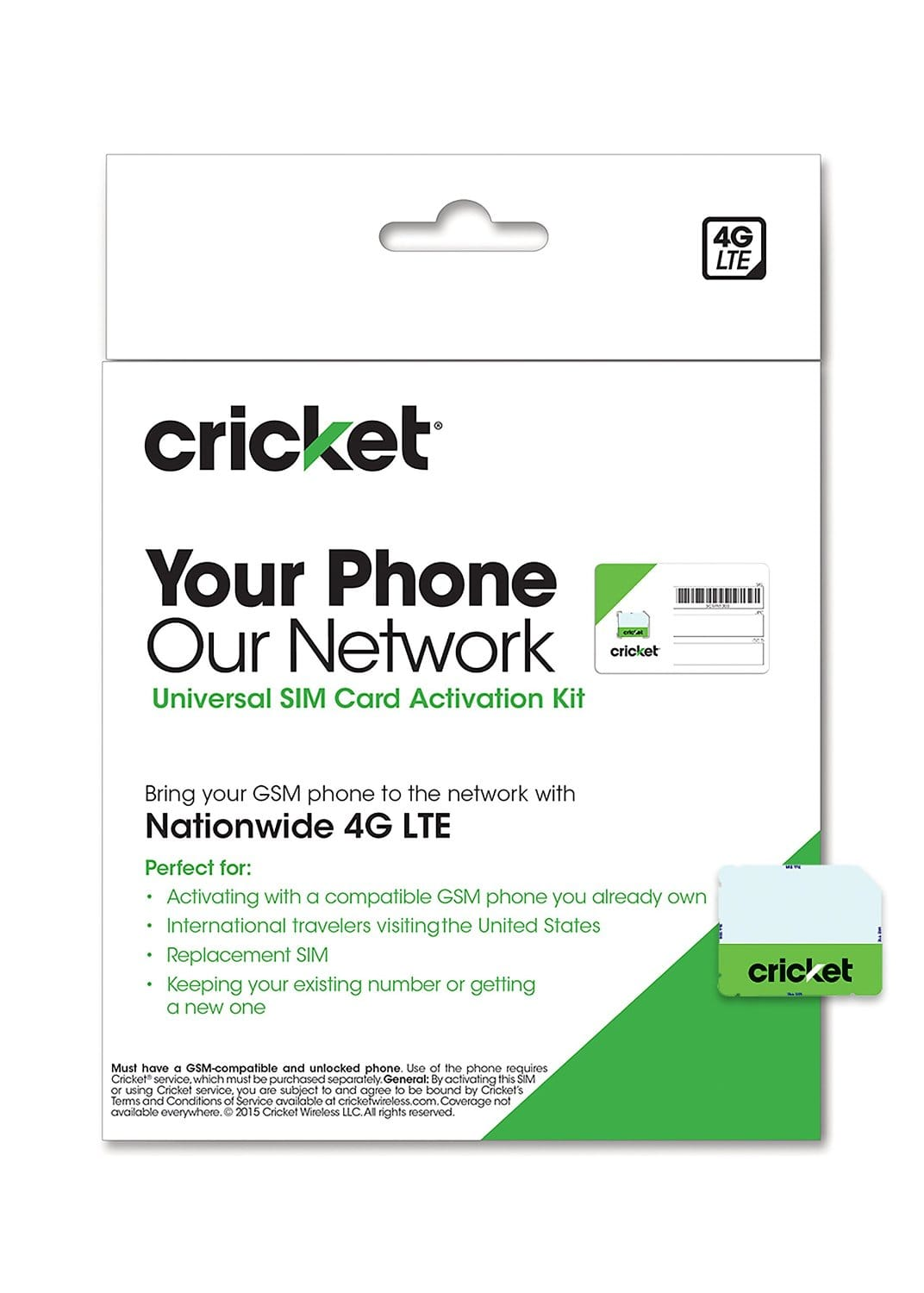 Cricket Wireless Complete SIM Card Starter Pack  $1