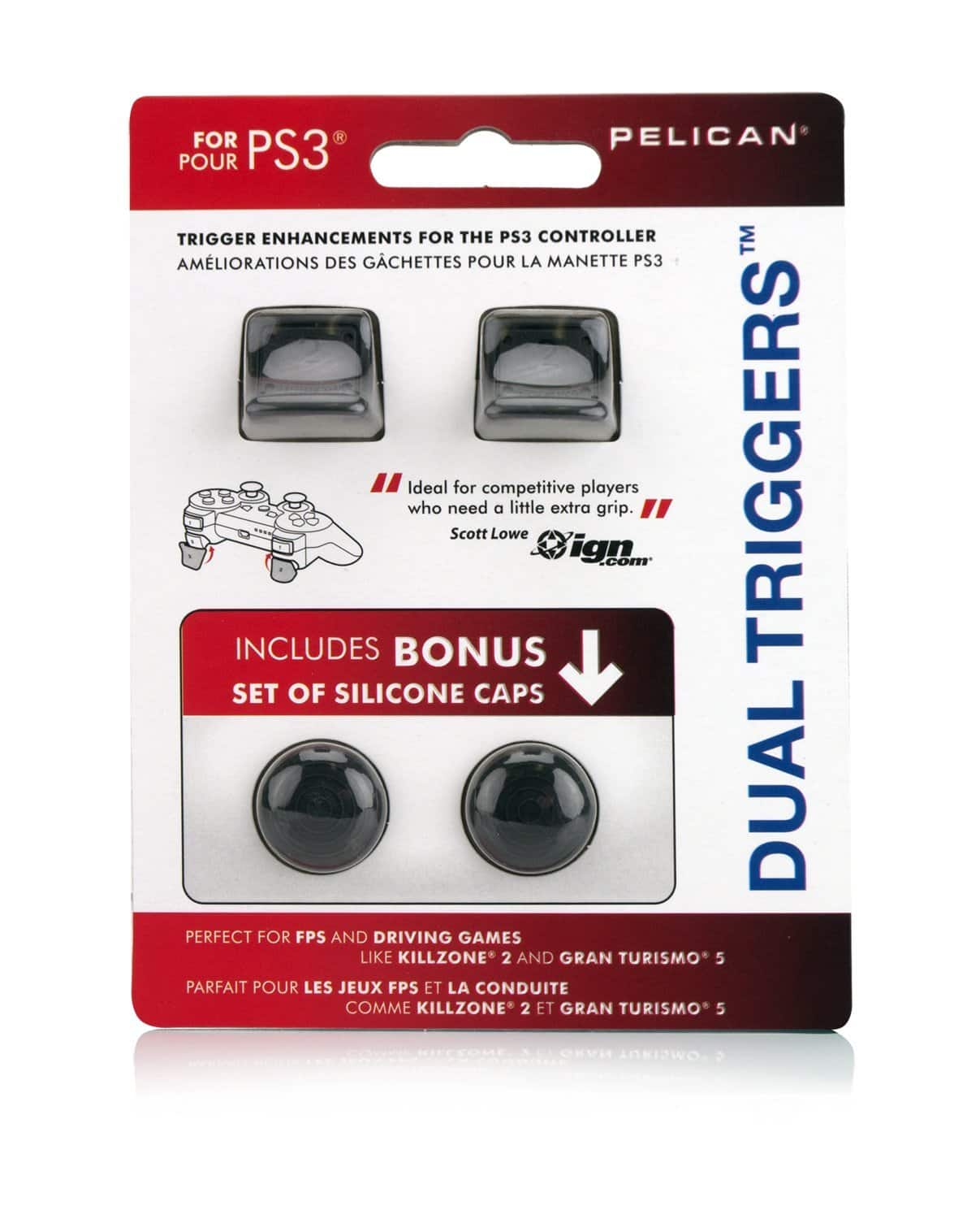 PDP Pelican PS3 Dual Triggers with Bonus Silicone Caps for $1.99 @amazon