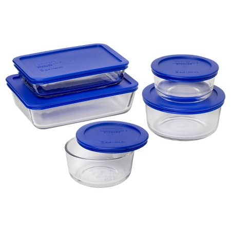 10-Piece Pyrex Glass Storage Set w/ Lids (Blue)  $12 + Free In-Store Pickup