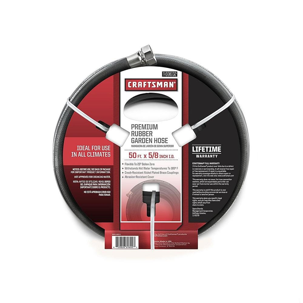"""50' Craftsman 5/8"""" All-Rubber Garden Hose $19.99 + Free Store Pickup ~ Sears"""