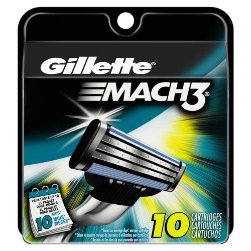 Gillette Mach3 razor refills 10 ct $12.80 (or lower) +FS at Amazon