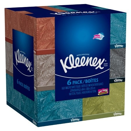 6-Pack 160-Ct Kleenex Facial Tissues + $5 Target eGift Card  2 for $11.55 + Free S/H
