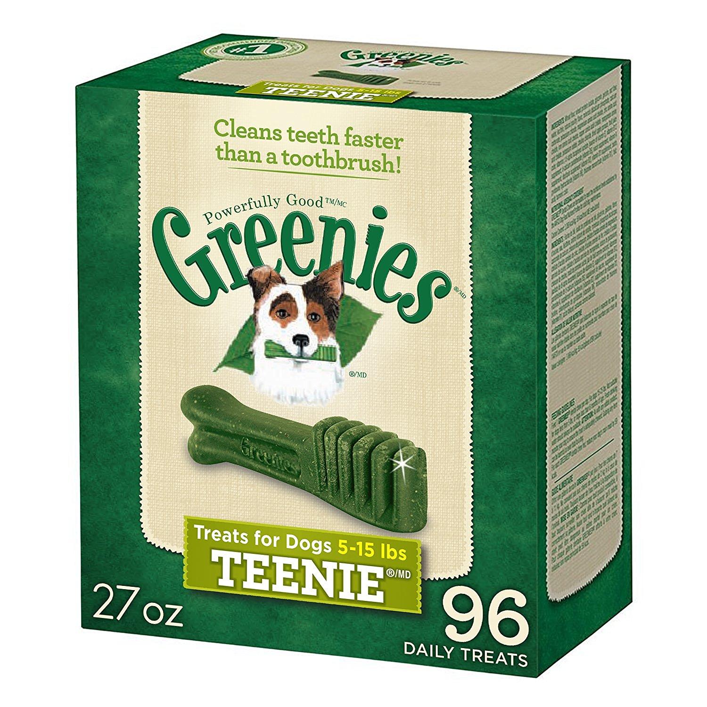 130 count,36oz Greenies Teenie Dental Dog Treats for $18.53 AC + S&S(15%) + FS W/ Amazon Prime