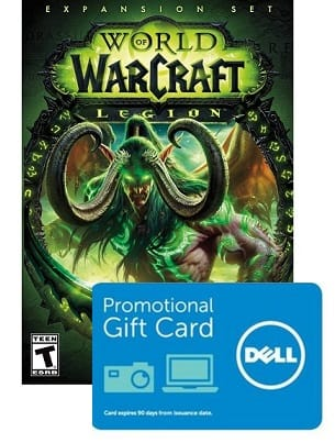 World of Warcraft: Legion expansion + $25 Dell eGift card $49.99, Free next business day shipping