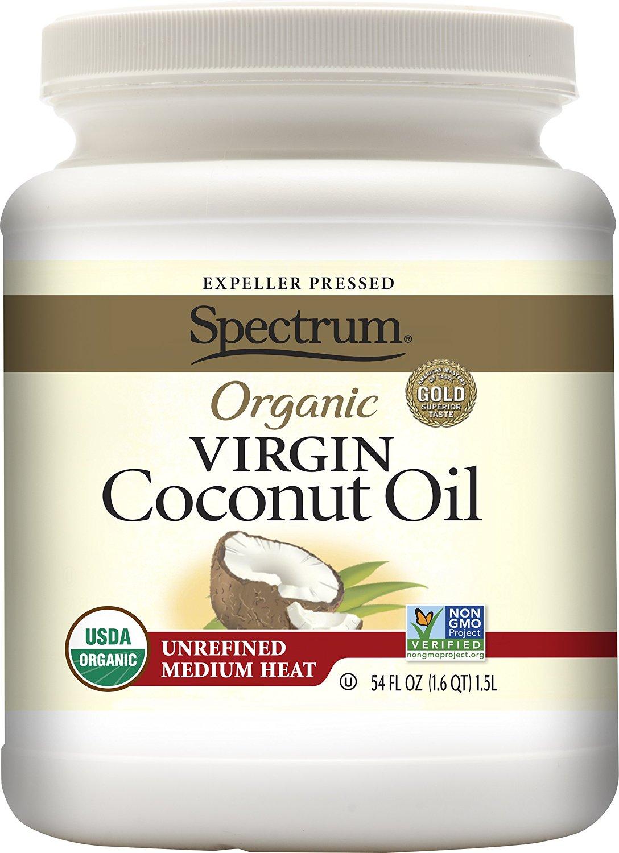 54oz. Spectrum Organic Virgin Coconut Oil (Unrefined) $12.93 AC & SS + FSSS!
