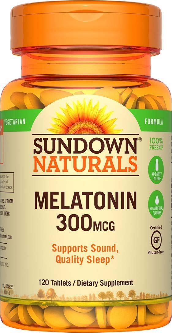 """Sundown Naturals Melatonin 300 mcg, 120 Tablets $2.90 @ amazon *now an """"Add-On"""" only*"""