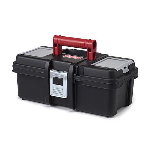 Craftsman 13 Inch Tool Box with Tray - Black/Red for $5.14 at Sears