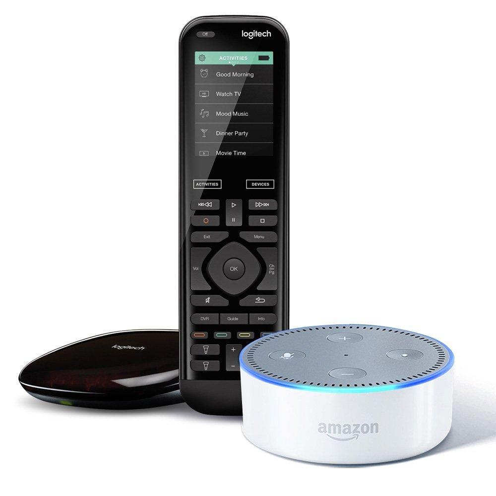 Logitech Harmony Elite Remote w/ Hub + Echo Dot (2nd Gen) $287.60 + Free S/H