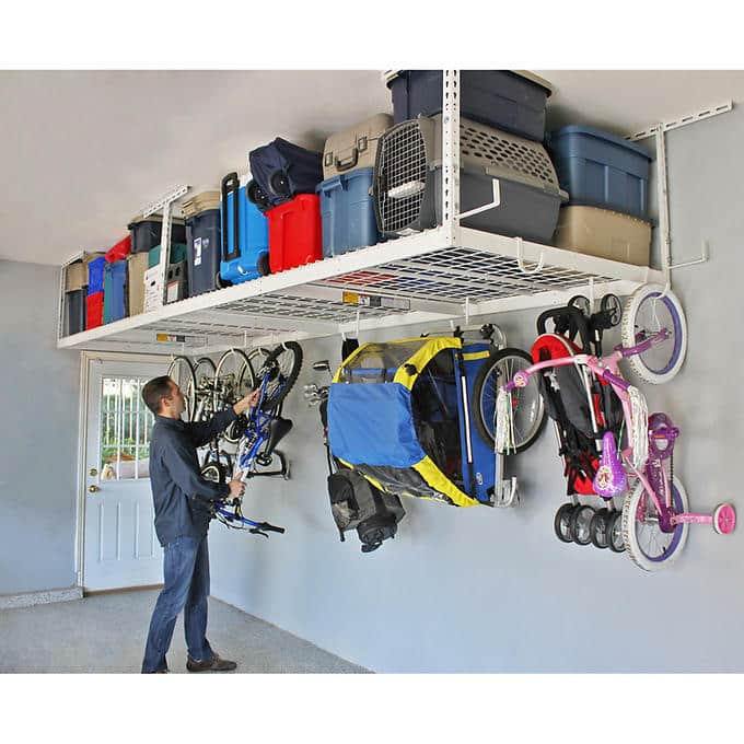 SafeRacks Overhead Garage Storage Combo Kit, Two 4 ft. x 8 ft. Racks - $260 @ COSTCO - SAVE $140 - 18-piece Deluxe Hook Accessory Pack
