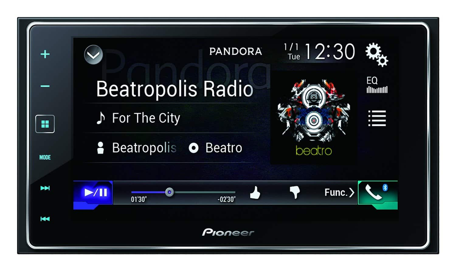 how to connect bluetooth to pioneer touch screen