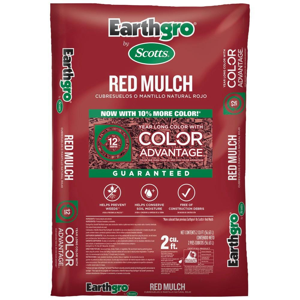 Scotts Earthgro 2 Cu Ft Mulch Red Brown Or Black Slickdeals Net