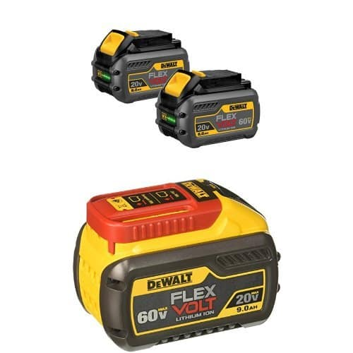 "Select DeWALT Flexvolt Tools: Up to 40% Off: DeWALT Max Flexvolt 6.0 Ah Dual Battery Pack w/ 9.0 Ah Max Battery $249, 7-1/4"" Flexvolt 60T Circular Saw Blade $13.49 via Amazon"