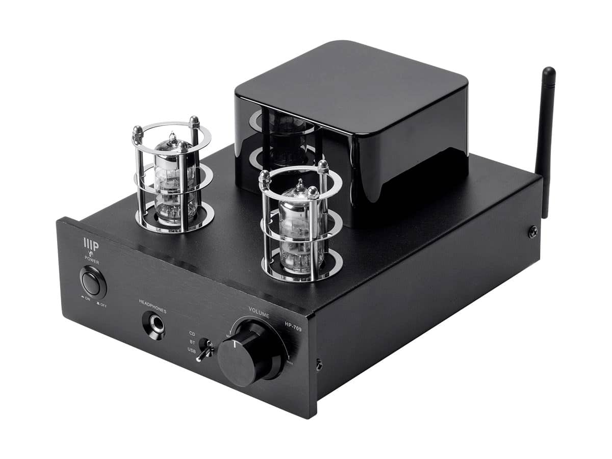 Monoprice Stereo Tube Headphone Amp w/ 24-Bit/96kHz USB Bluetooth v4.0 & PreAmp Out $59.99 + Free Shipping