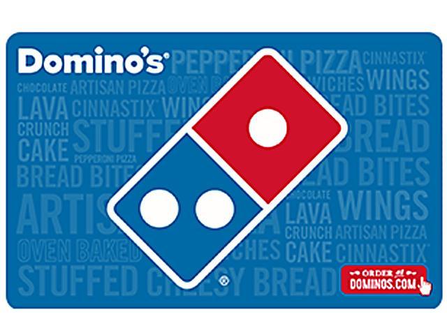$25 Domino's Pizza Gift Card + $5 Bonus Domino's Pizza Gift Card (Email Delivery) $25 via Newegg