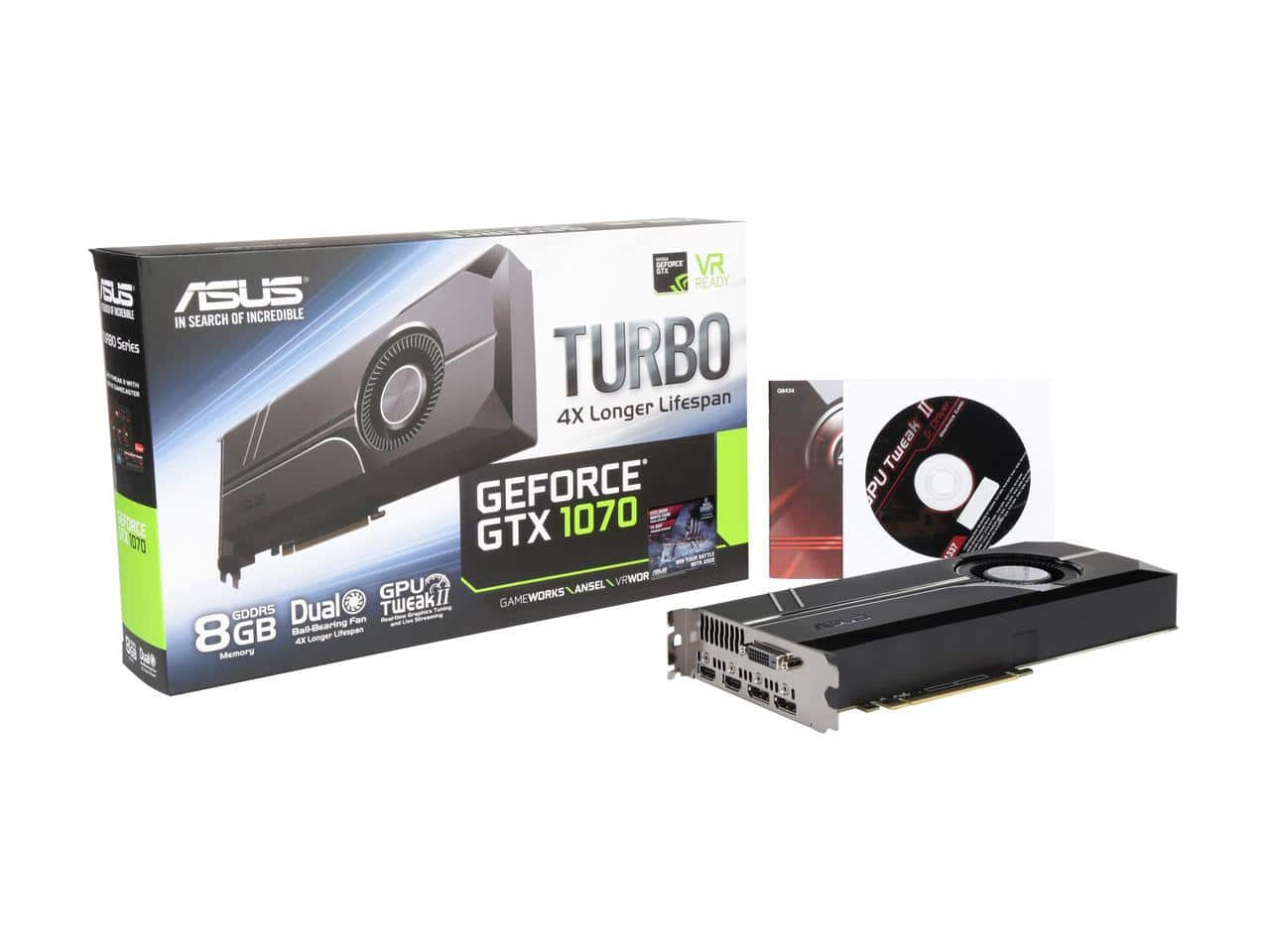 ASUS GeForce GTX 1070 Turbo 8GB 256-Bit GDDR5 Video Card + Everspace (PCDD) $374.99 w/ MasterPass Checkout + Free Shipping (Valid 8/7 Only)