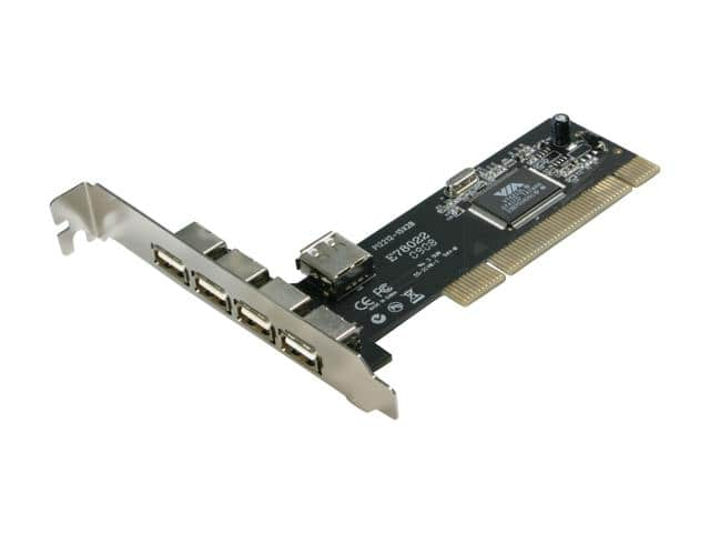 Rosewill 4 + 1 USB 2.0 PCI Adapter (Four External + One Internal Ports (RC-103) Free after Rebate + Free Shipping via Newegg