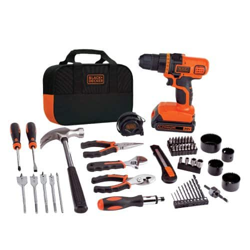 Black+Decker 20-Volt Max Lithium-Ion Drill and Project Kit (68 Accessories Included) (LDX120PK) $59.99 + Free Shipping via Amazon