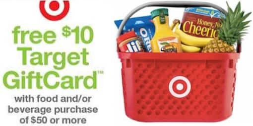Target Stores: Coupon for Purchase $50 in Food and/or Beverage, Get $10 Target Giftcard *Starts 11/16*