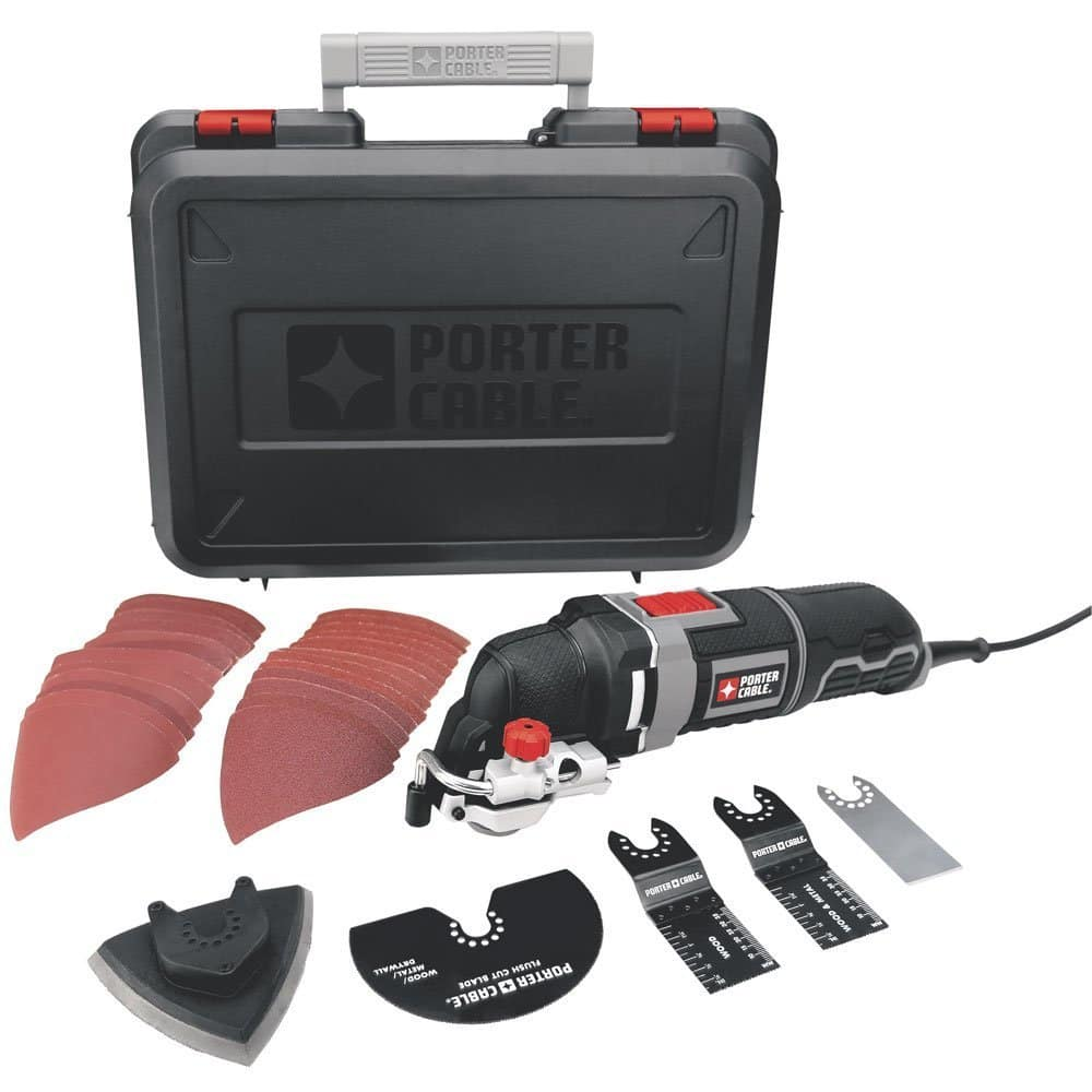 Porter-Cable 3-Amp Corded Oscillating Multi-Tool Kit w/ 31 Accessories (PCE605K) $59.99 + Free Shipping via Amazon