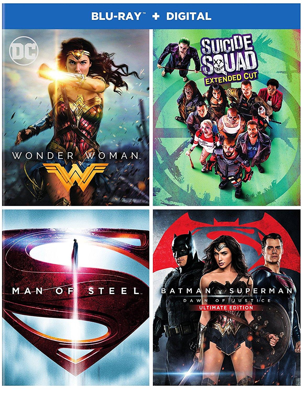 Batman/Superman Anthology (9-Film Blu-Ray) $37.99 or DC 4-Film Bundle (Digital + Blu-Ray): Wonder Woman + Suicide Squad & More $34.99 + Free Shipping via Amazon