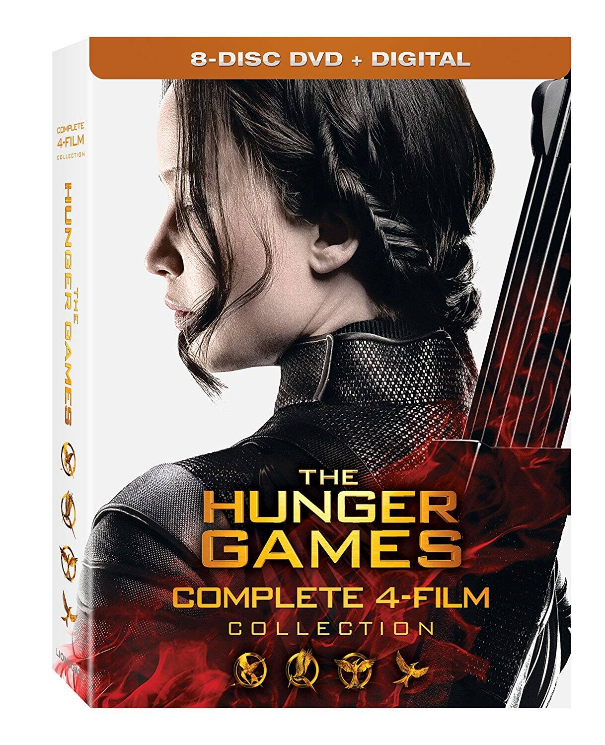 The Hunger Games: Complete 4 Film Collection (8-Disc DVD + Digital) $13 via Amazon