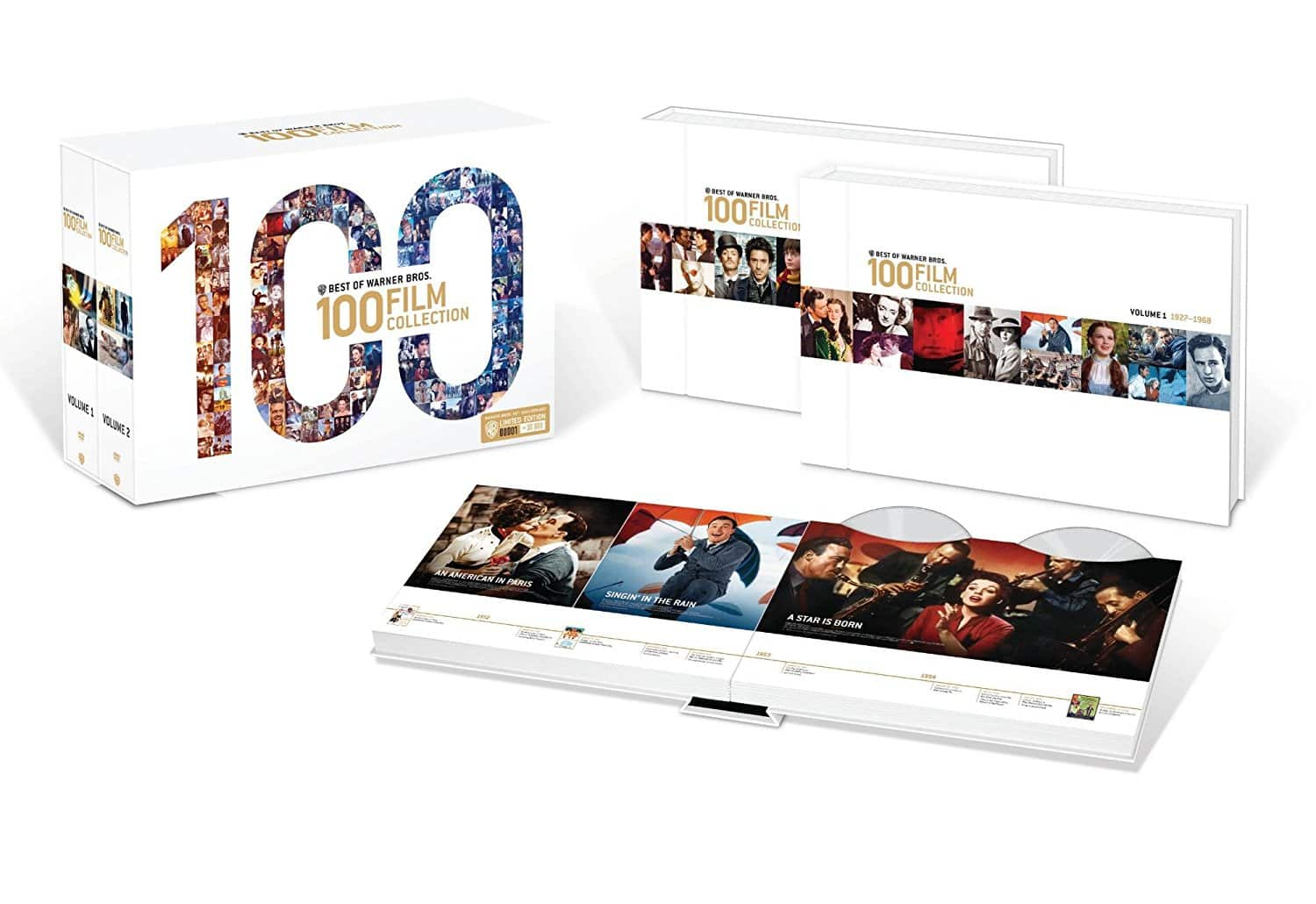 Best of Warner Bros: 100-Film Collection: 90th Anniversary Limited Edition Giftset (DVD) $63.99 + Free Shipping via Amazon