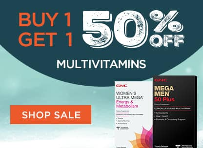 GNC Vitamins & Supplement Sale (Multivitamins, Fish Oil, & More): B1G1 50% Off + Extra $5 Off $25 or More + Free Shipping (No Minimum)