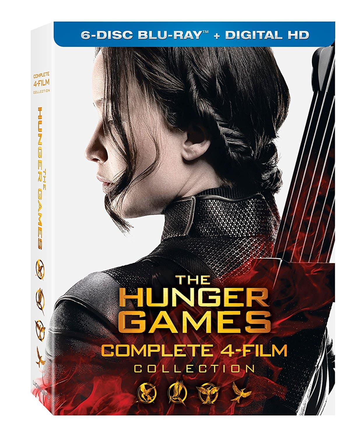 The Hunger Games: Complete 4 Film Collection (6-Disc Blu-Ray + Digital HD) $19.99 via Amazon