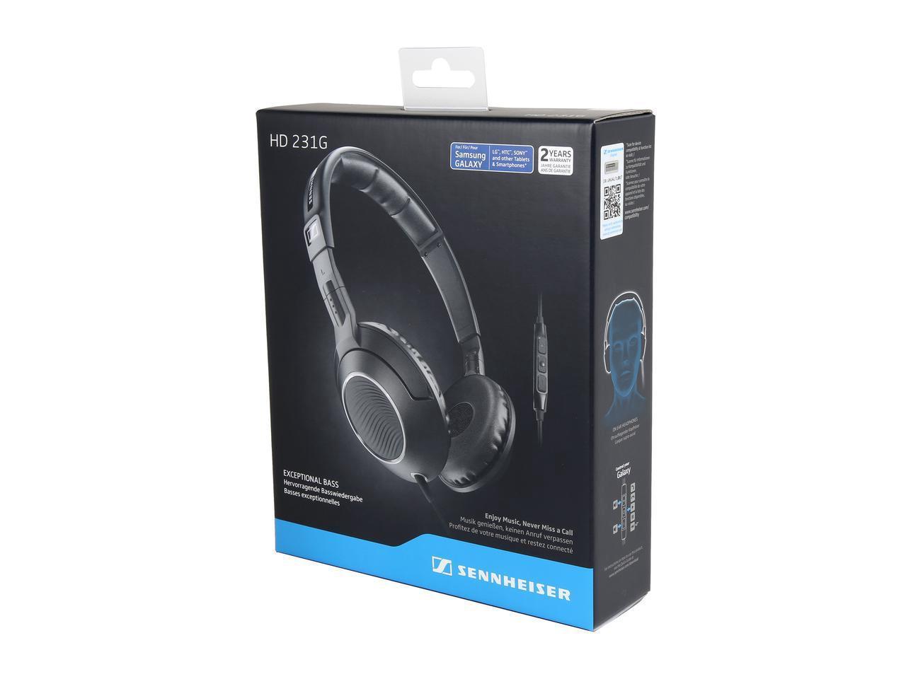 Sennheiser HD 231G On Ear Headphones w/ Inline Microphone/Remote (Black) $23.95 + Free Shipping via Newegg