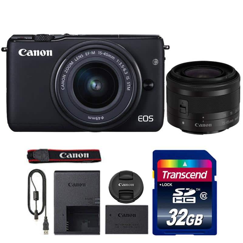 Canon EOS M10 18MP Mirrorless Digital Camera w/ 15-45mm STM Lens + 32GB Transcend SDHC Memory $300.98 + Free Shipping via Rakuten