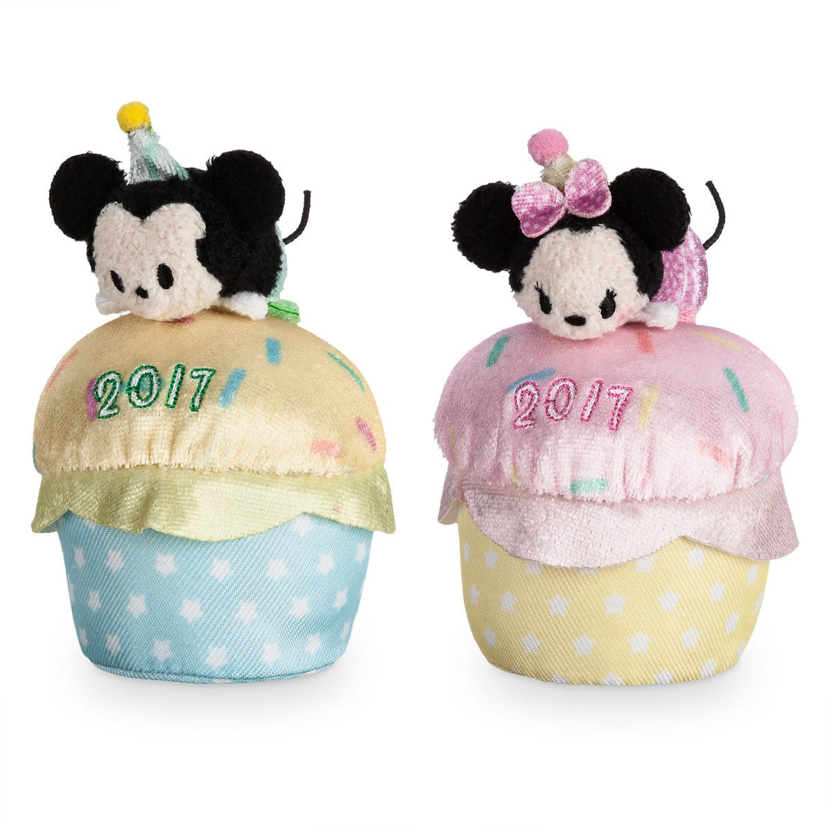 "Shop Disney Store: Minnie Mouse or Mickey Mouse 4"" Tsum Tsum Mini Plush (Birthday Cupcake 2017), Mickey Mouse 4"" Plush $2.99 Each & More + Free Shipping No Minimum"
