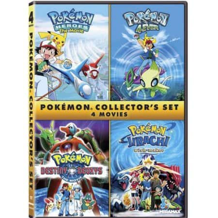Pokemon 4-Film Collector's Set: 4Ever, Heroes, Destiny Deoxys & Jirachi: Wish Maker (DVD) $3.74 via Amazon/Walmart *Add On Item*