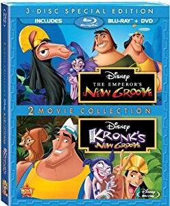 The Emperor's New Groove + Kronk's New Groove (3-Disc Blu-Ray + DVD) $9.99 via Amazon
