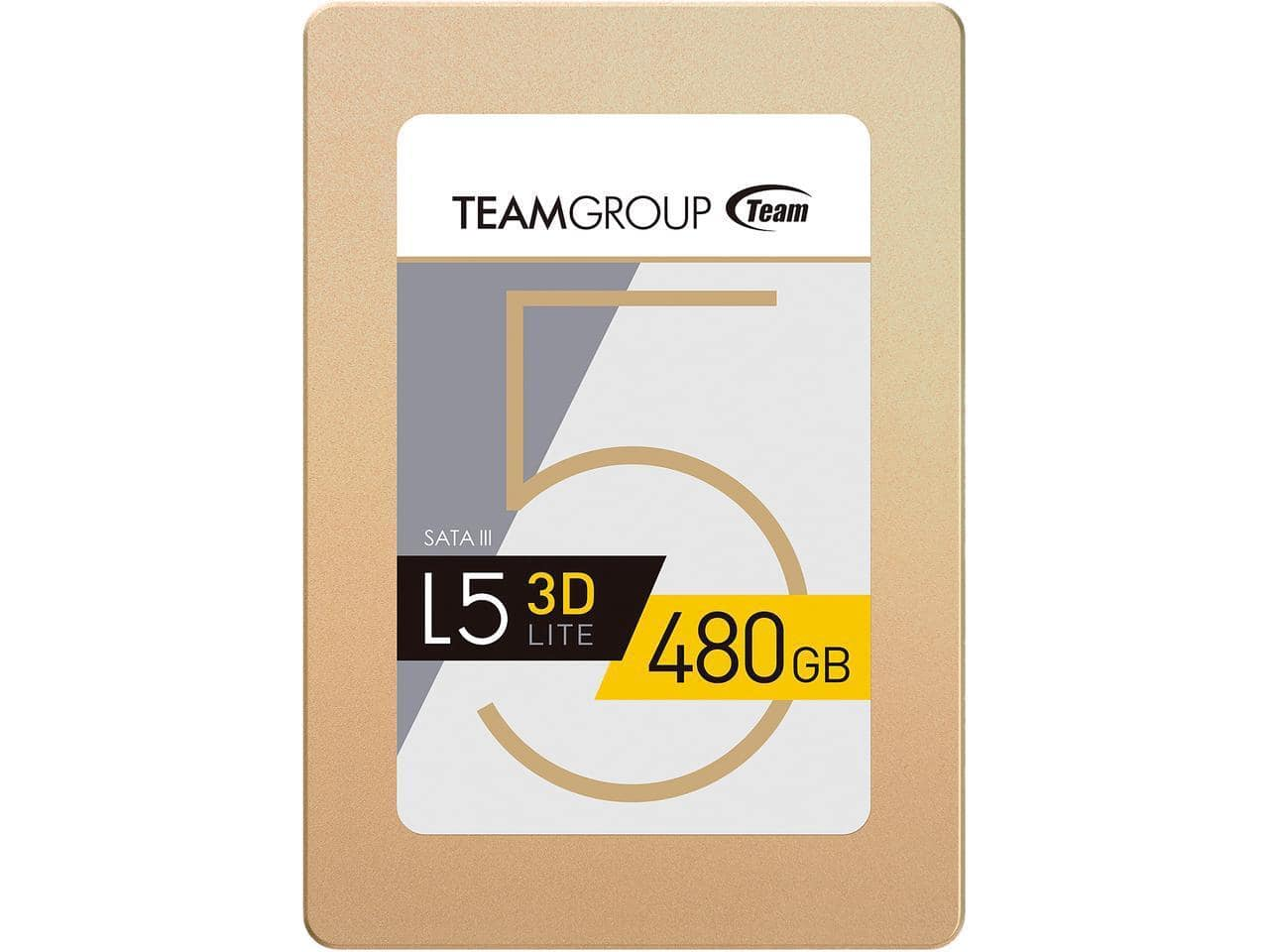 """480GB Team Group L5 Lite 3D 2.5"""" Solid State Drive SSD $99.99 + Free Shipping via Newegg"""