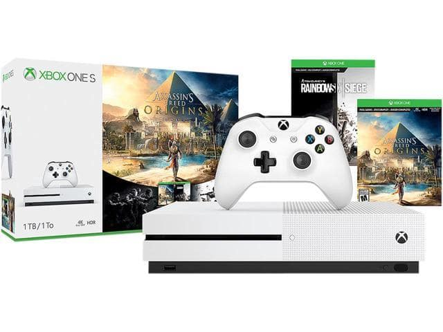 1TB Xbox One S Console w/ Assassin's Creed Origin/Rainbow Six Siege + Grand Theft Auto V + Monster Hunter World (Xbox One) $299.99 + Free Shipping via Newegg