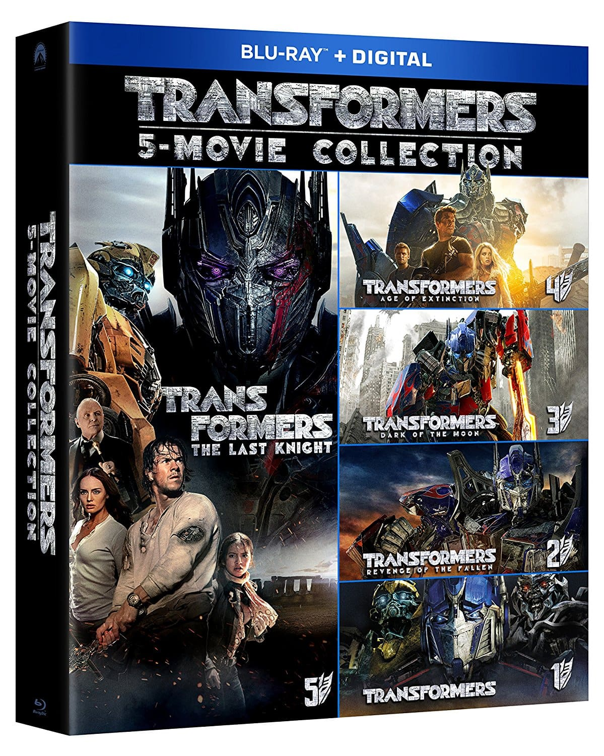 Transformers 5-Movie Collection (Blu-Ray + Digital HD) $29.99 + Free Shipping