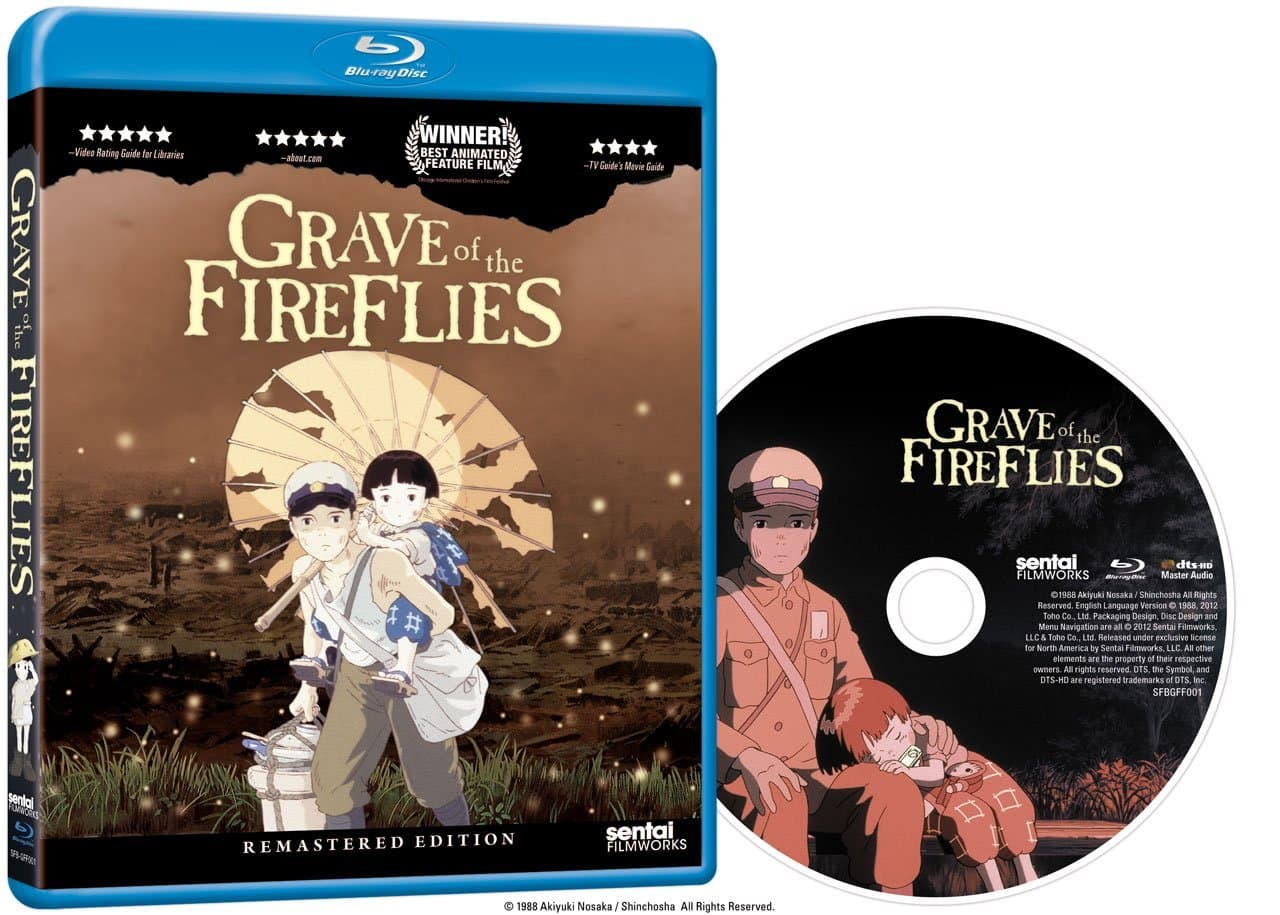Grave of the Fireflies: Remastered Edition (Blu-Ray) $10.99 via Amazon