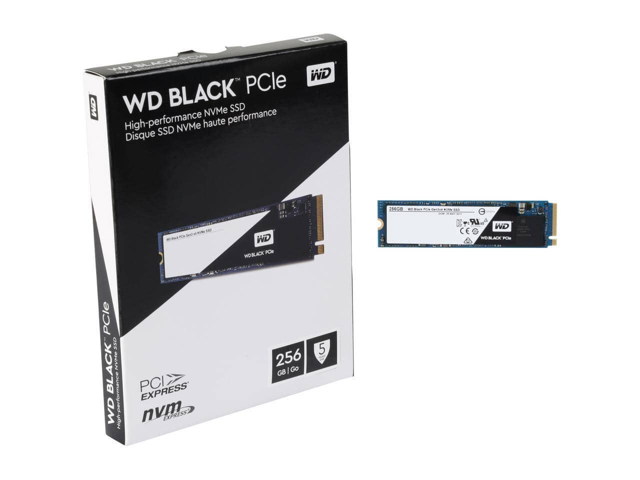 256GB WD Black Performance M.2 2280 PCIe NVMe Solid State Drive $89.99 + Free Shipping via Newegg