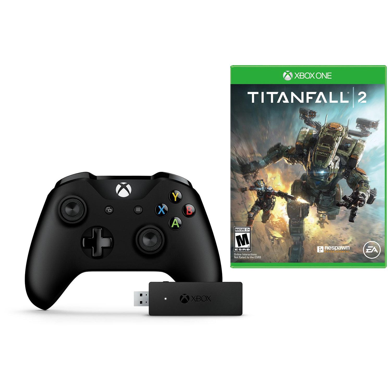 Microsoft Xbox One Wireless Controller w/ Windows Adapter + Titanfall 2 (Xbox One) $54.95 + Free Shipping